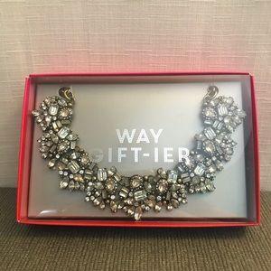 Silver Baublebar statement necklace. NIB